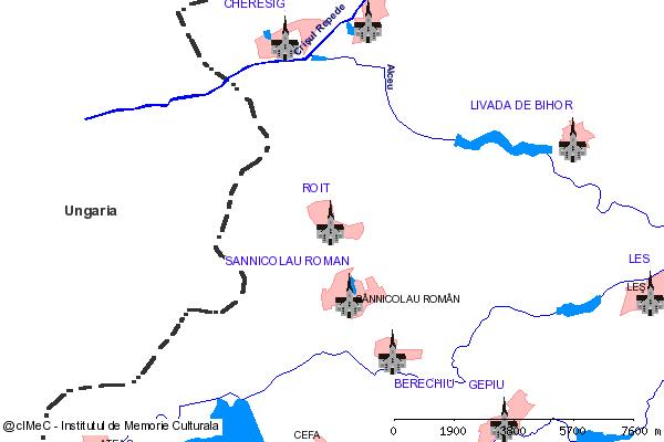 Ruinele bisericii (in stanga soselei Roit - Cheresig, la 1 km N de limita localitatii, pe terenul Fermei legumicole nr. 2)-ROIT (com. CEFA)