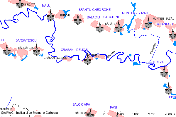 Schitul Balaciu Pitesteanu (la cca. 5 km S de DN 2A (E  60))-CRASANII DE JOS (com. BALACIU)